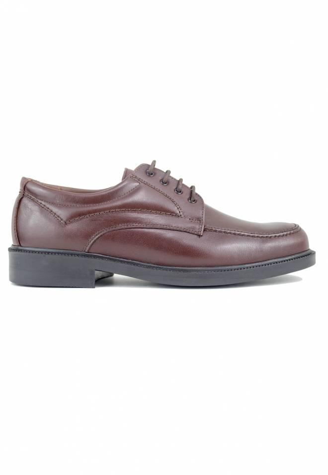 Baerchi - Zapato Ancho Especial con Cordones Cordero Marrón