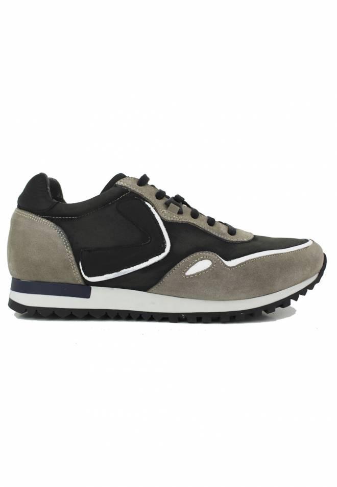 Baerchi - Sneaker Combinada Niquel