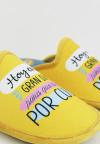 Biorelax By Zapattu - Zapatillas de Casa Mujer Hoy es un Gran Día para que te de por Culo