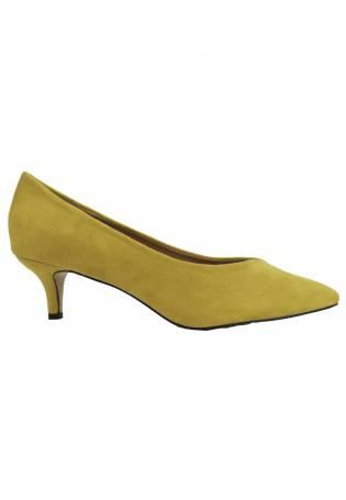 3caadb30e62 Azarey - Zapato de salón ocre con tacón medio