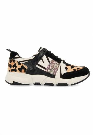 Gioseppo - Sneaker baja combinada print boras beige