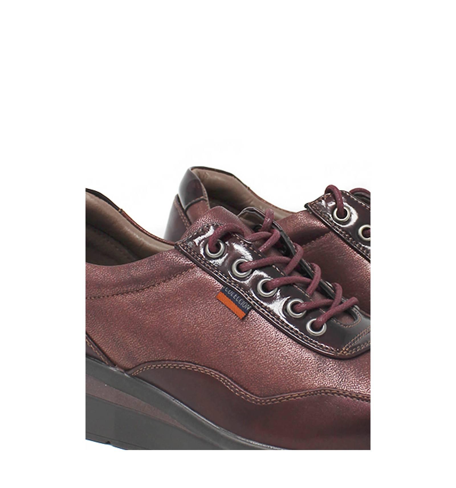 burdeos Zapato D acordonado metalizado confort V XPkZiu