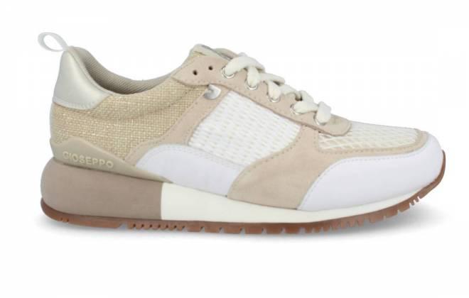 Gioseppo - Sneaker Beige Combinada con Cuña Baja Para Mujer ANZAC