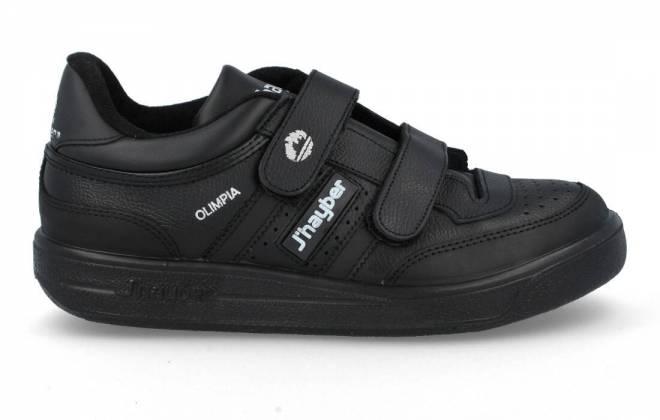 J´hayber - Zapatillas Olimpia Piel negro