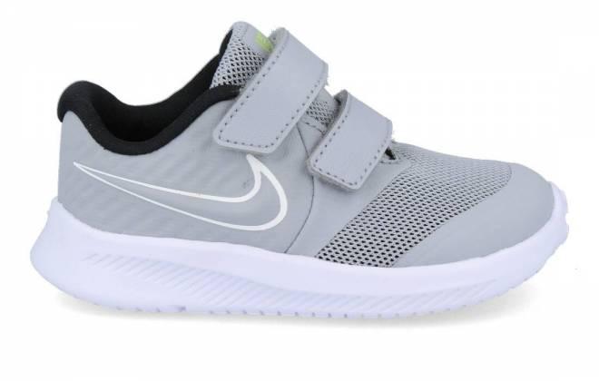 Nike - Deportiva Gris Bebé Doble Velcro Star Runner 2
