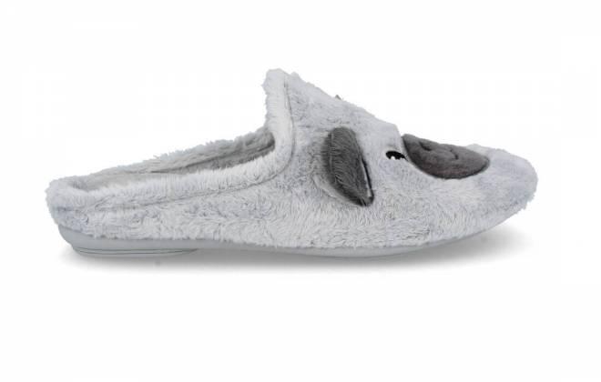Garzón - Zapatillas de Casa Mujer Osito Gris