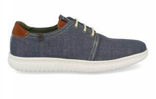 Baerchi - Zapato Vegano Acordonado Lino Navy