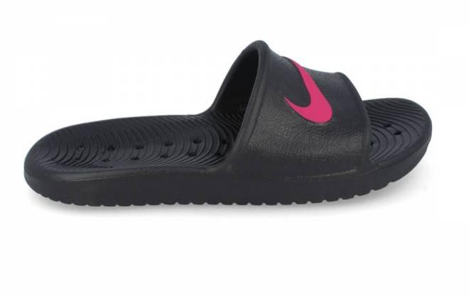Nike - Chancla Cadete Mujer Kawa Shower Negro Fucsia GS/PS