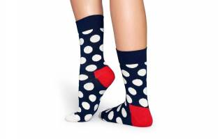 Calcetines Happy Socks Adulto Lunares Marino y Blanco
