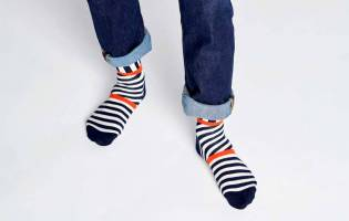 Calcetines Happy Socks Adulto Zebra