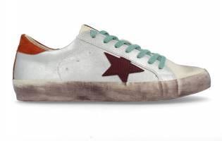 Corina - Sneaker Puntera Estrella Plata