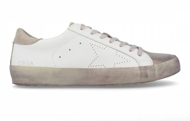 Corina - Sneaker Puntera Estrella Blanco