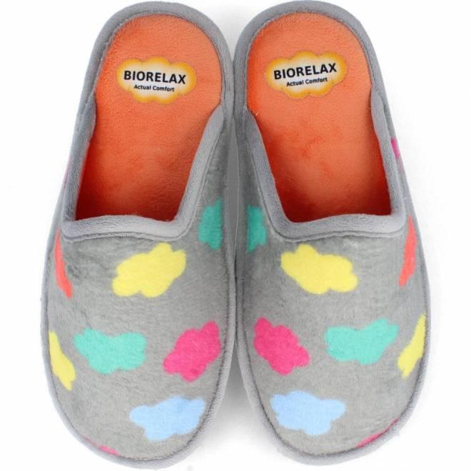 Zapatillas Biorelax - Mujer Nubes en gris