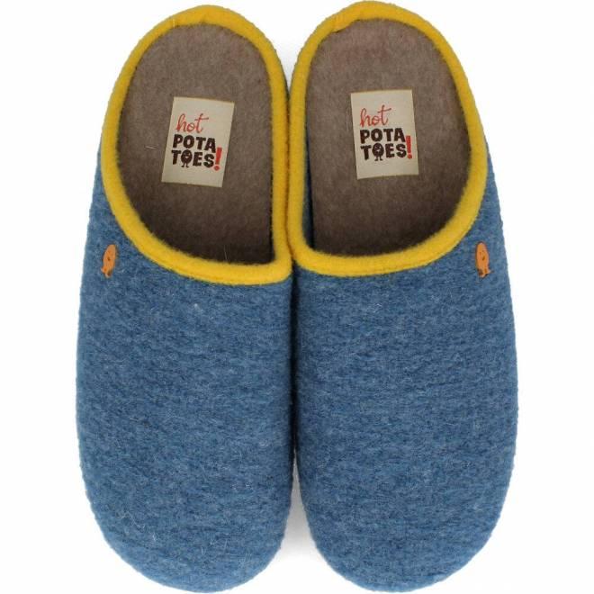 Hot Potatoes - Zapatillas de Casa Fieltro Azul