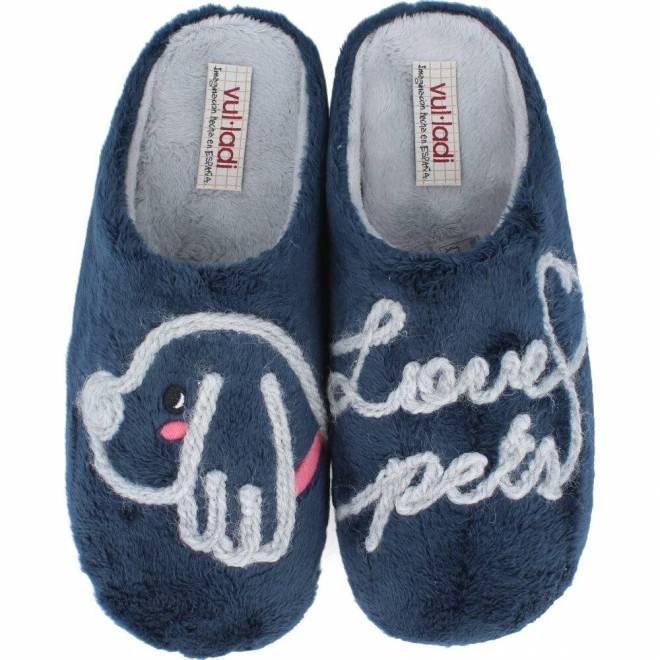 Vul ladi - Zapatillas de Casa Mujer Pets Marino