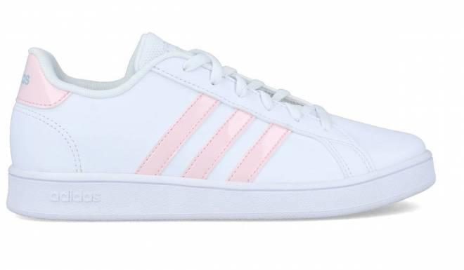 Adidas - Zapatilla Casual Grand Court K Rosa