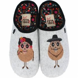 Hot Potatoes - Zapatillas de Casa Pareja Potatoes