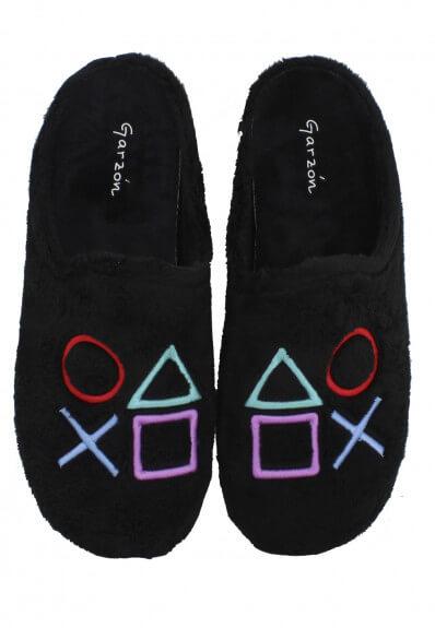 zapatillas de casa garzón detalle play station